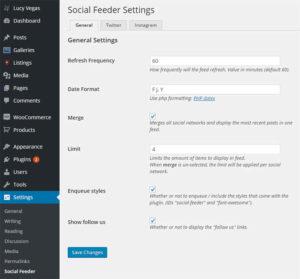 Social feeder screenshot