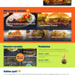 Happy food landing page