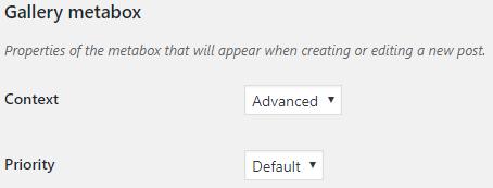 Post Gallery metabox option