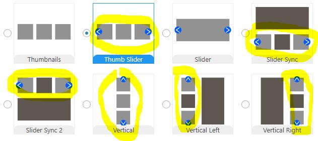 Pro layouts with navigation slides