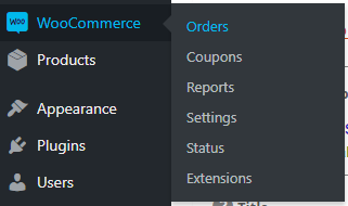 WooCommerce orders in dashboard