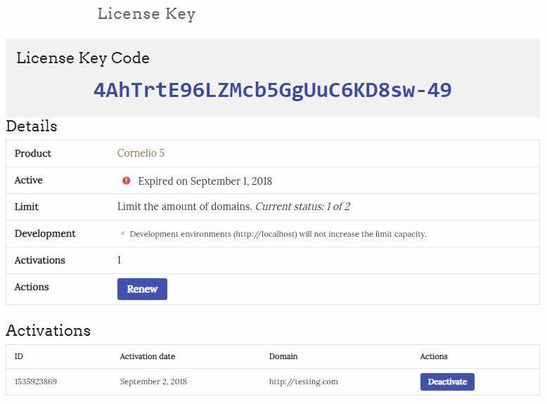 view license key