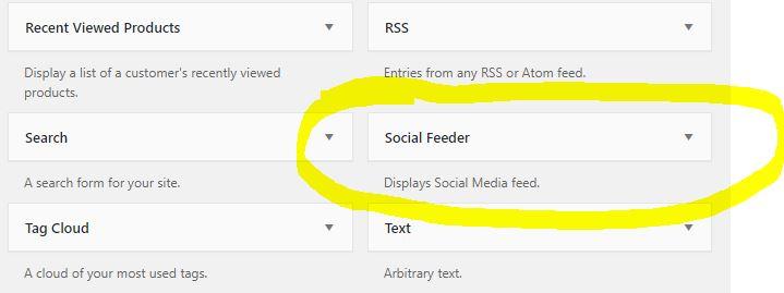 Social Feeder widget